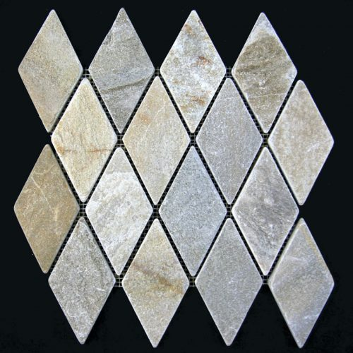 Gold Quartz Large Diamond Pattern