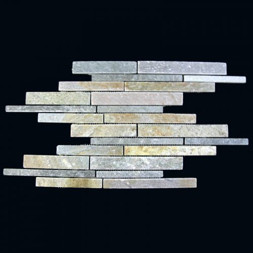Gold Quartz Irregular Strip Pattern