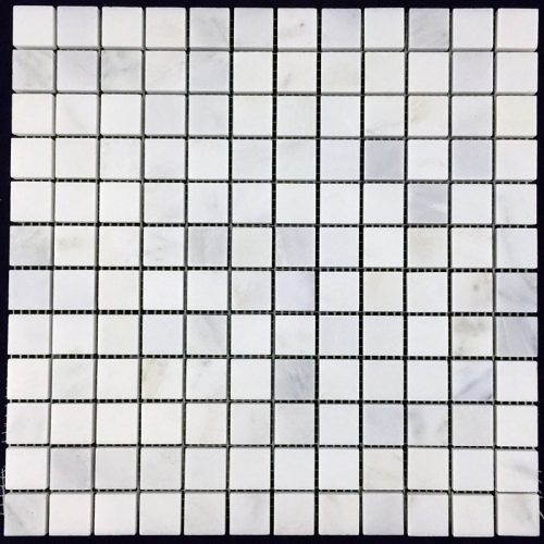 "Honed Eastern White Mosaic 1""x1"""