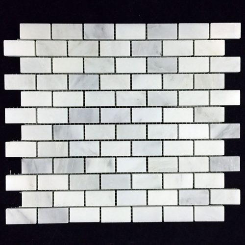 "Honed Eastern White Mosaic 1""x2"" Brick"