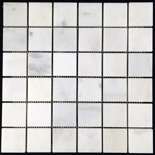 "Honed Eastern White Mosaic 2""x2"""