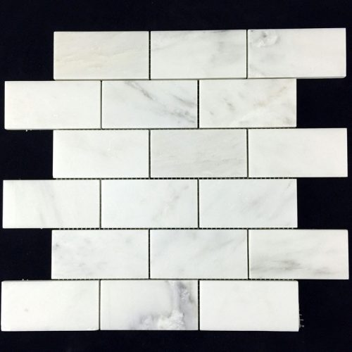 "Honed Eastern White Mosaic 2""x4"" Brick"