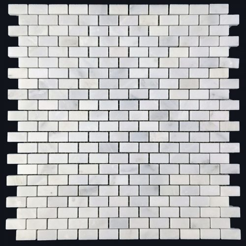Honed Eastern White Mosaic Mini Brick
