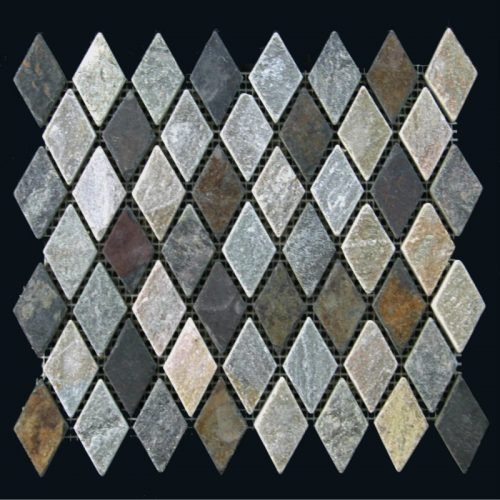 Blended Slate & Gold Quartz Diamond Pattern
