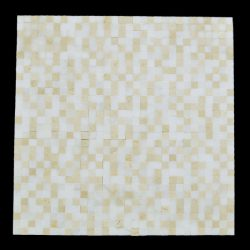 "Polished/Honed Blend Crema Marfil/Eastern White Mosaic 3/8""x3/8"" - No Joint"