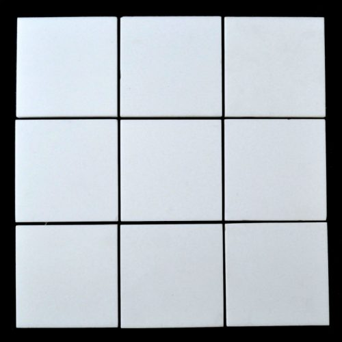 "Honed Crystallized White Glass Tile 4""x4"""