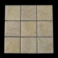 "Tumbled Travertine Pillow 4""x4"""