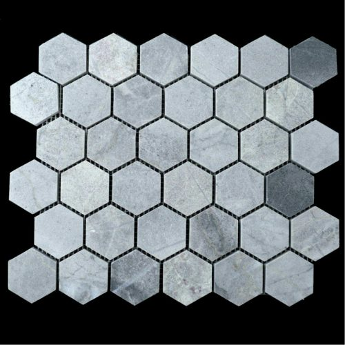 "Honed Blue De Savoie 2"" Hexagon"